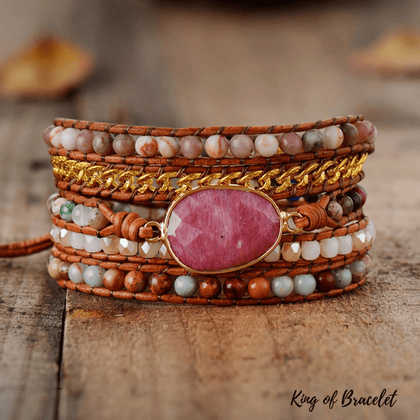 Bracelet Bohème Rhodonite - King of Bracelet