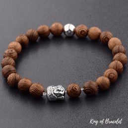 Bracelet Bouddhiste en Bois - King of Bracelet