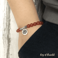 Bracelet Lotus en Cornaline - King of Bracelet