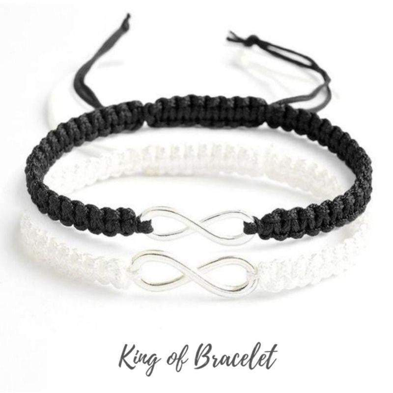 "Bracelet Distance pour Couple ""Infini"" - King of Bracelet"