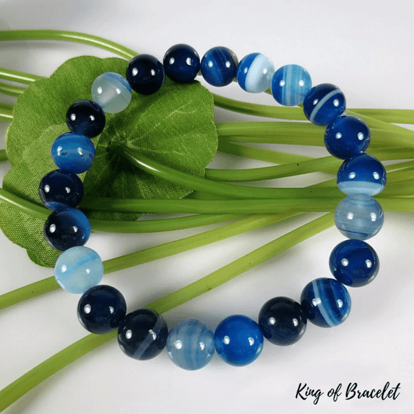 Bracelet en Agate Bleue - King of Bracelet