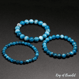 Bracelet en Apatite Bleue Qualité AAA+ - King of Bracelet