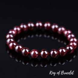 Bracelet en Grenat Rouge - King of Bracelet