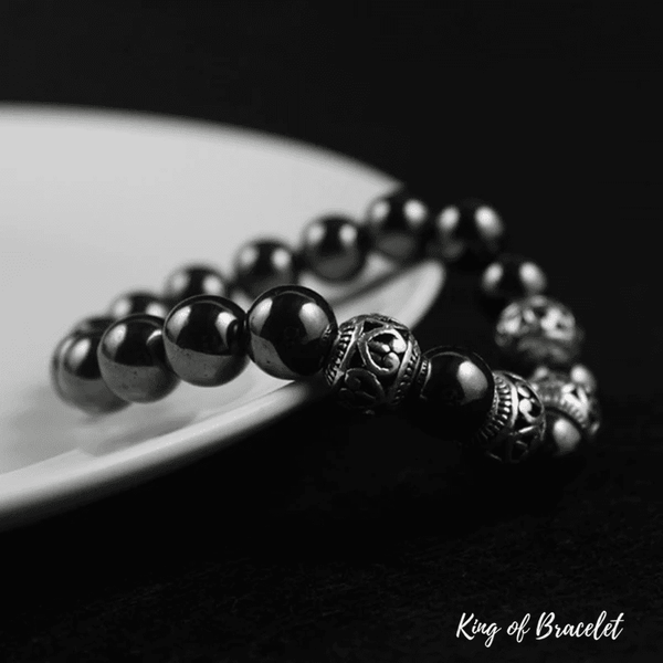 Bracelet Tibétain en Hématite - King of Bracelet