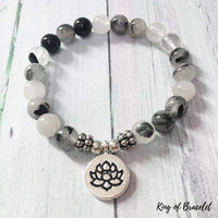 Bracelet Lotus en Quartz Tourmaliné - King of Bracelet