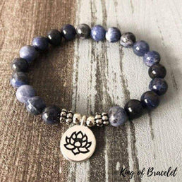 Bracelet Lotus en Sodalite - King of Bracelet