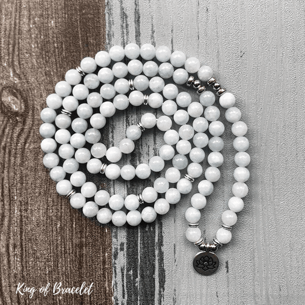 Bracelet Mala en Aigue Marine - King of Bracelet