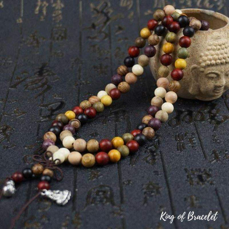 Bracelet Mala Bouddhiste Tibétain en Bois de Santal - King of Bracelet