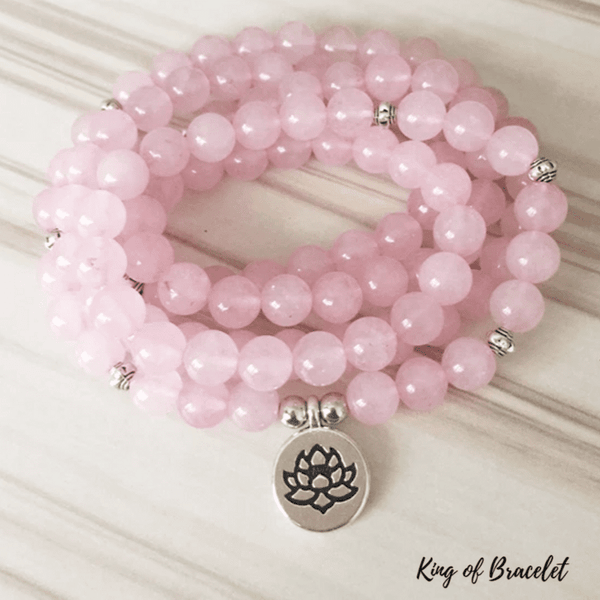 Bracelet Mala en Quartz Rose - King of Bracelet
