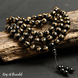 Bracelet Mala Tibétain en Obsidienne - King of Bracelet