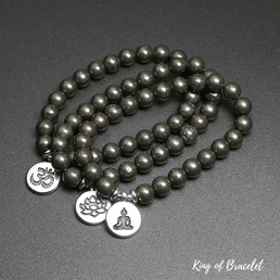 Bracelet Mala Tibétain en Pyrite - King of Bracelet