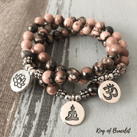 Bracelet Mala Bouddhiste en Rhodonite - King of Bracelet