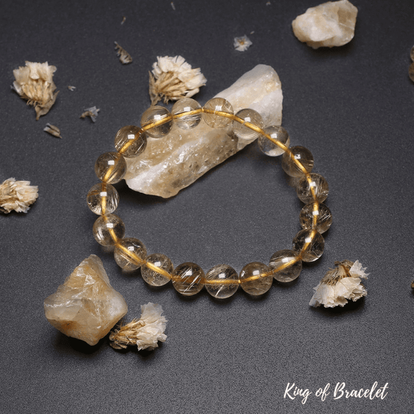 Bracelet en Quartz Rutile Qualité AAA+ - King of Bracelet