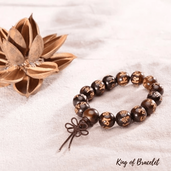 Bracelet Bouddhiste en Bois de Rose - King of Bracelet