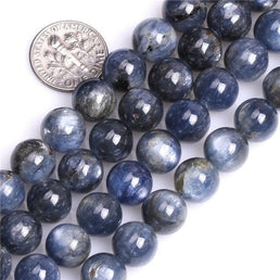 Perles Rondes Cyanite Bleue - King of Bracelet