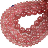 Perles Rondes Quartz Fraise - King of Bracelet