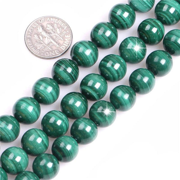 Perles Rondes Malachite - King of Bracelet