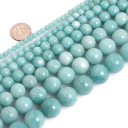 Perles Rondes Amazonite Bleue - King of Bracelet