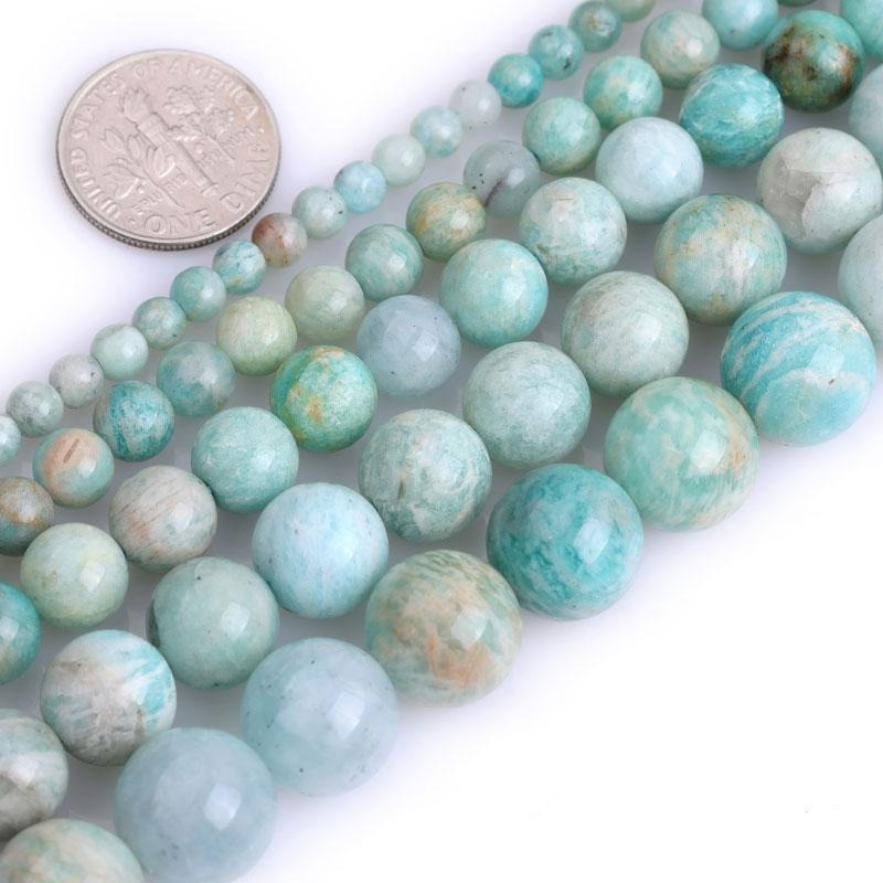 Perles Rondes Amazonite Africaine - King of Bracelet