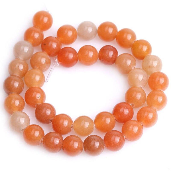 Perles Aventurine Orange - King of Bracelet