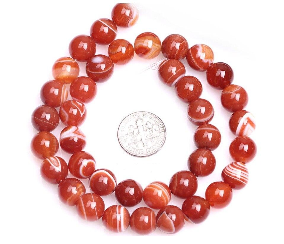 Perles Rondes Agate Rouge