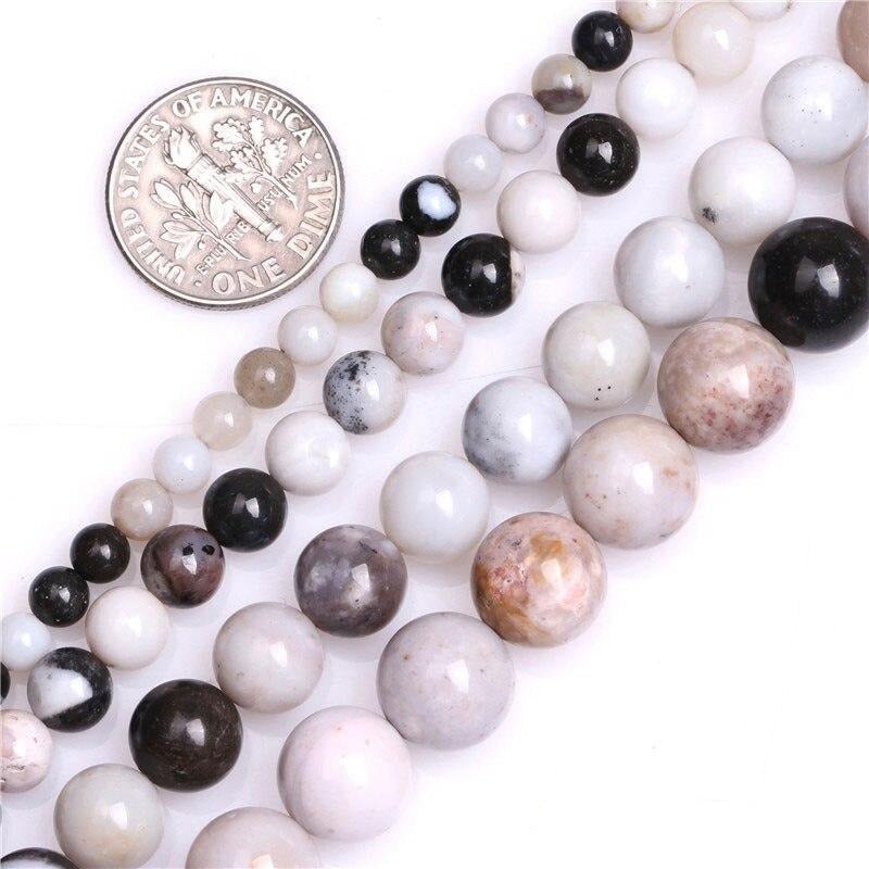 Perles Rondes Agate Dendritique - King of Bracelet
