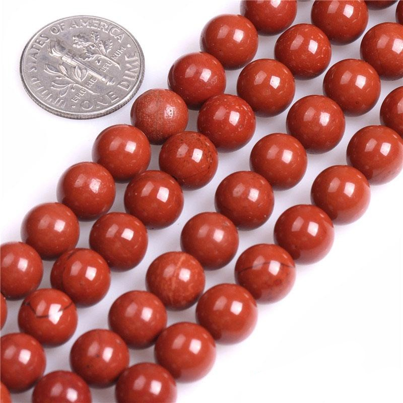 Perles Rondes Jaspe Rouge - King of Bracelet