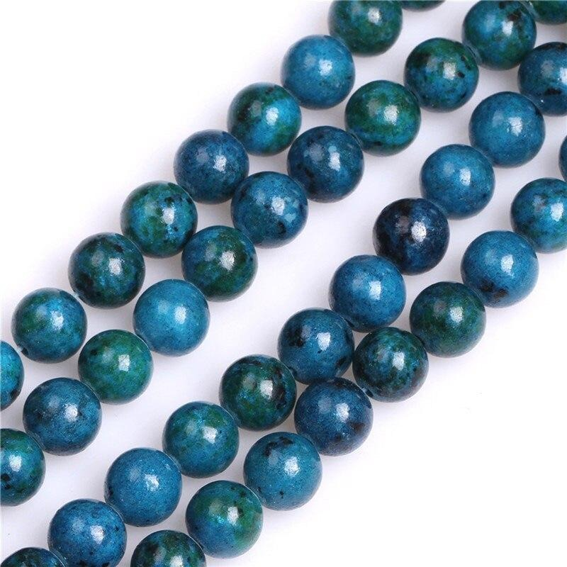 Perles Rondes Chrysocolle 8MM - King of Bracelet