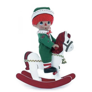 Rocking Raggedy Andy Christmas, 9 inch doll