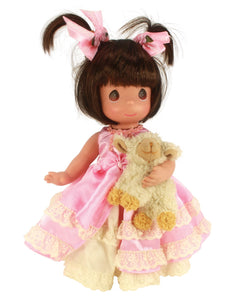 "Pretty in Pigtails Brunette - 12"" Doll"