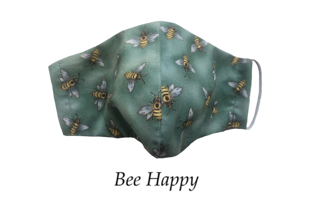 Bee Happy Face Mask