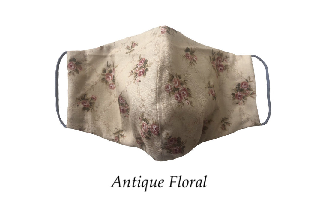 Antique Floral Face Mask