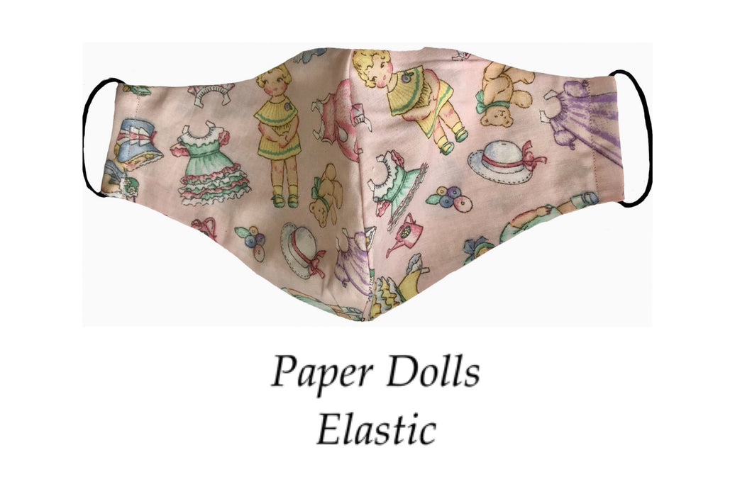 Paper Dolls Face Mask - Elastic