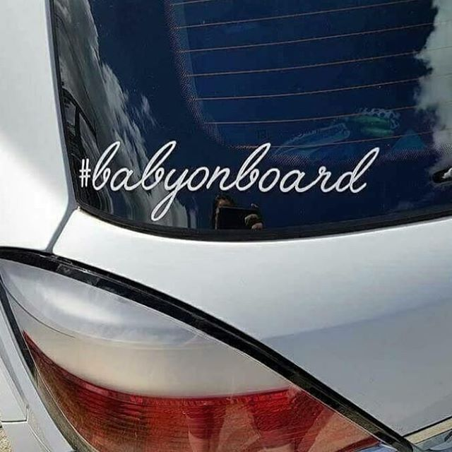 #babyonboard Car Decal