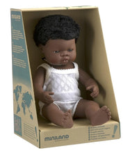 Miniland Doll - Anatomically Correct Baby, African Boy, 38 cm