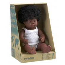 Miniland Doll - Anatomically Correct Baby, African Girl, 38 cm