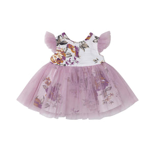 PEARL FLORAL DOLL DRESS | TRUFFLE
