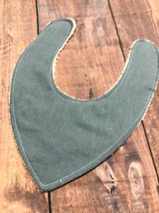 Duck Egg Linen Bib