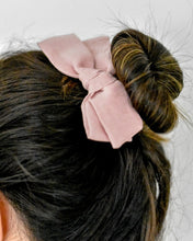 Oversized Schoolgirl Bow - Blush Pink