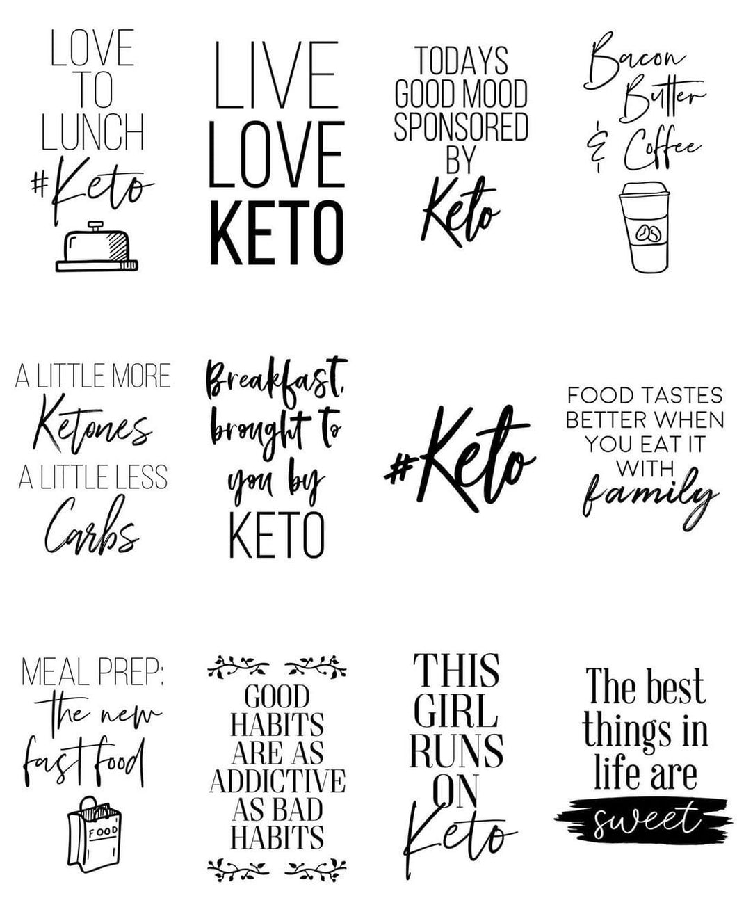 Keto Flatlay Pack - EXCLUSIVE to Mama & Estelle