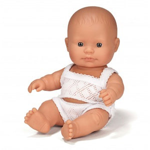 Miniland Anatomically Correct Baby Doll Caucasian Girl - 21 cm