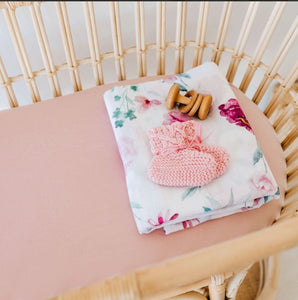 Lullaby Pink | Bassinet Sheet / Change Pad Cover
