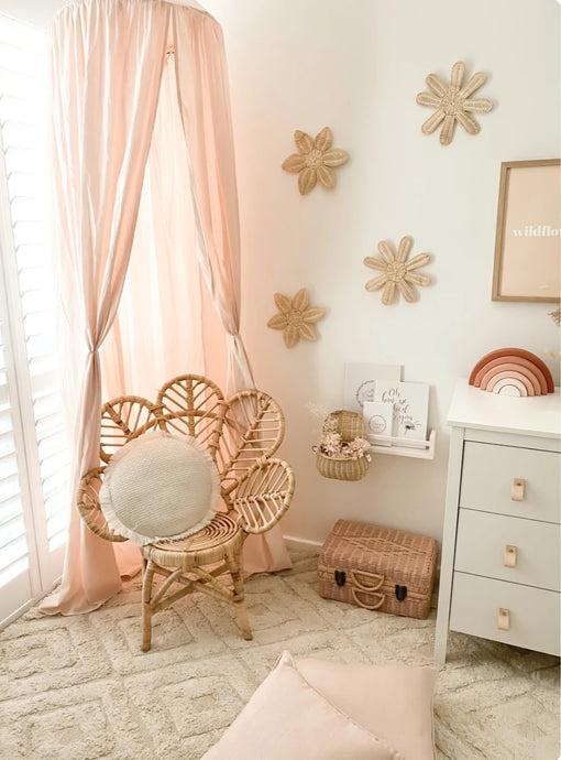 Organic Cotton Canopy - Light Peach