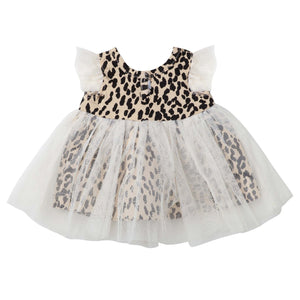 ANNIE ANIMAL PRINT DOLL DRESS