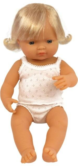 Miniland Doll - Anatomically Correct Baby, Caucasian Girl, 38 cm
