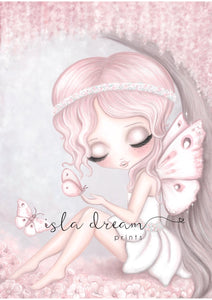 Grace the butterfly fairy print - full background