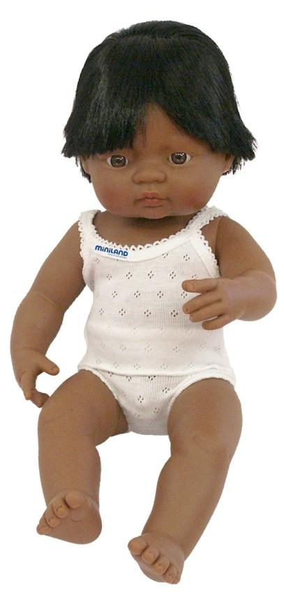 Miniland Doll - Anatomically Correct Baby, Latin American Boy, 38 cm