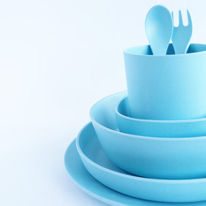 Bamboo Dinnerware Set - Blue