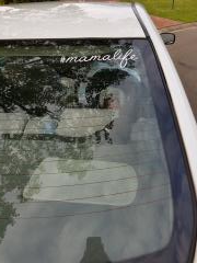 #mamalife Car Decal