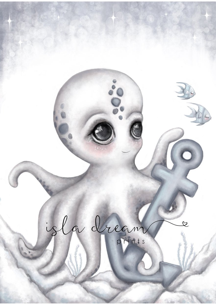 Ollie the Octopus print